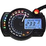 Tachymètre numérique pour moto avec écran LCD et indicateur de tachymètre 7 couleurs