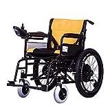Fauteuil roulant électrique léger en fauteuil roulant Support en acier titane pliable Entraînement...