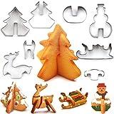 Biscuits Emporte-pièces, emporte-pièce en formes, 9pièces Acier inoxydable, gâteau fondant décoration,...