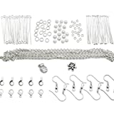TOAOB Kits de fabrication de bijoux pour débutants avec résultats et perles plaqués argent