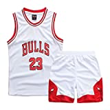 Sokaly Garçon Fille NBA Jorden#23 Chicago Bulls#23 Golden Satate Basket-Ball Perfomance Sport Ensemble...