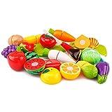 Dînette Enfant, Likeluk Lot de 20 Jouets d'imitation Dînette de la Cuisine Couper Fruits Légumes Jeu de...