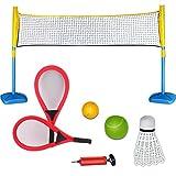 deAO Raquette Sports 3 en 1 Set pour Le Tennis, Le Badminton et Le Squash Ensemble du Jeux Sportifs pour...
