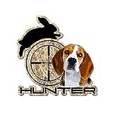 Raptor Hunting Solutions Autocollant déco pour Voiture et Maison 11.5 cm x 11.7 cm Chien DE Chasse Beagle
