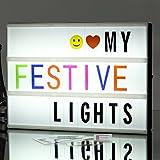 A4 Boîte à lumière de cinéma, Boîte de lumière LED SeaHost LED avec carte 180 lettres, 85 cadeaux...