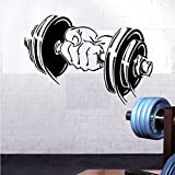 GYM Barbells Pattern Wall Sticker for Decoration Accessories mural Room Sports Equipment Stickers Waterproof...