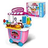 GizmoVine Enfant Jouets Rôle Playset, 31pcs Crème Glacée Jeu de Simulation Alimentaire pour 2 3 4 Ans...