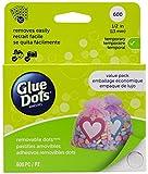 Glue Dots Pastille adhésive amovible format économique Clair