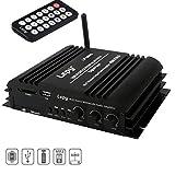 Mini Amplificateur Bluetooth, FisherMo Sans Fil Audio Stéréo Musique Streaming Numérique Classe D 4 Canal...