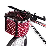 332PageAnn Amovible Sac Panier pour Avant de vélo Femme Universel en Toile - Cadre en Alliage d'aluminium -...
