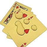 Switty Poker 24K étanche Plastique Doré Cartes à jouer des Jeux de table de poker