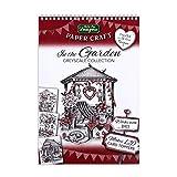 In The Garden Greyscale Collection Bloc de papier pour travaux manuels, kit de fabrication de cartes, 120...
