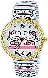 Pappi Boss Unique Design pierre clouté Cute Teddy Hello Kitty extensible Bracelet Band montre pour filles,...