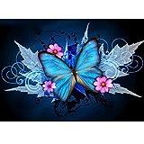 5d Diamant Peinture kit complet perceuse Maple laisser Papillon DIY Strass à broder au point de croix Arts...