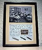 Tableau avec photo ancienne et texte sur le métier d'enseignant. Création artisanale Française. Idée...