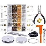 Queta Kit de fabrication de bijoux, accessoires de bijouterie avec accessoires de réparation, faits à la...
