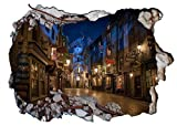 Chicbanners Harry Potter Diagon Alley 3D Murale Smash V203 Sticker Mural Autocollant Poster Art Mural Taille...