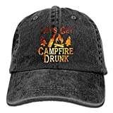 Xukmefat Casquette de Baseball Let's Get Campfire Drunk Vintage en sergé de Coton délavé avec Profil Bas...