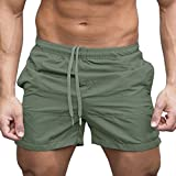 Kinlene Hommes Gym Casual Sports Jogging Shorts Taille éLastiquéE Pantalons Pantalons Short De Remise en...