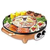 Grills électriques Tout-en-un BBQ Grill Pan Griddle électrique Hot Pot Multi-fonction, maison antiadhésive...