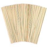 Paquet de 100 bâtons ronds en bois,ANSUG goujons de goujon en bambou naturel non finis pour projets...