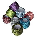 Fil de Coton pour Crochet - 10 Bobines de Fil de Coton - 85 Mètres de Fil de Coton - Fil Brillant pour...