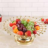 CanKun Fruit Basket Bowl Home Crafts Ornements , gold , B