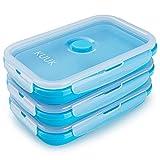 KUUK Récipients de stockage pour aliments Pliables en Silicone - Grand, 3 unités
