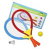 Raquettes de Badminton Tennis Jeux Exterieur Ballon Ball de Badminton Tennis Jouet Plage pour Enfant âgés de...