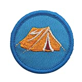 YA-Uzeun Écusson thermocollant DIY American Boy Scout Patches Patches Autocollants Broderie, Vert, tent