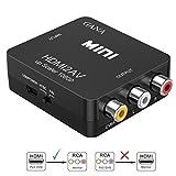 HDMI vers RCA, GANA 1080P HDMI vers AV   3RCA Convertisseur Vidéo / Audio Composite Prenant En Charge PAL /...