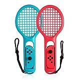Goolsky Raquette de Tennis pour Nintendo Switch Joy-Con Contrôleurs pour Mario Jeux de Tennis