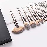 Pinceaux Maquillage, Dameso Professionnel Cosmétique Brush 15pcs Set Beauté Cosmétique Brush Poils...