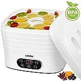 Aicok Déshydrateur Alimentaire 5 Plateaux Déshydrateur Électrique 0% BPA Pour Fruits, Légumes et Viandes,...