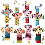 Twister.CK Baby Hochet, 4 pcs bébé hochet Poignet et Trouveur de Pied Set Chaussette Jouets Jouets d'éveil...