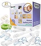 Kit de sécurité à l'épreuve des enfants de 21 pièces par Boxiki Kids. Protège-coins, Cache-prises,...