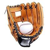 Yiiquan Unisex Gant de Baseball Cuir Outfield Softball Glove Plus Épais pour Enfants Adulte (Marron, Asia S)