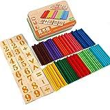 Les enfants apprennent le nombre de bâtons d'arithmétique Figure Les calculs de mathématiques...