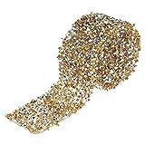 Ruban en strass, 1 yard acrylique diamant maille Wrap Roll Sparkle cristal ruban en strass pour la décoration...