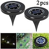 Fansport Disc Light Water Light 8 LEDs Ground Light LumièRe EncastréE ExtéRieure pour Jardin