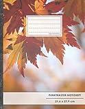 "Punktraster Notizbuch • A4-Format, 100+ Seiten, Soft Cover, Register, ""Herbstblätter"" • Original..."