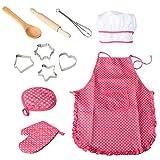 Twister.CK Chef Jeu de rôle avec Costume Habiller et Accessoires de Cuisine, Enfants Jouer Jeu 11 Pcs Toy...