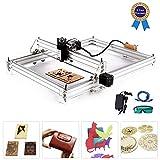 TOPQSC Kits de graveur laser bricolage CNC, Graveur laser de bureau 12V USB Carver,40X50CM Imprimante laser...