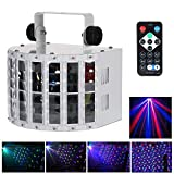 Lyre Led, Lixada 24W RGBW Lampe de Scène,100-240V 6 Canaux, Vocale commande/Contrôle automatique/Réglage de...
