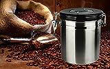 Aromafe boîtes à café hermétique de conservation pour café,en acier inoxydable, garde Flavor Verrouillé,...