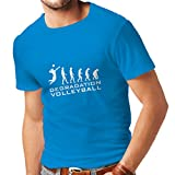 lepni.me T-Shirt pour Hommes Dégradation du Jeu de Volley-Ball, Cadeau d'humour pour Joueur de Sport (Medium...