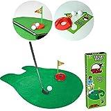 Somedays Mini-Golf Jeu de Golf Toilette Ensemble de Golf avec Balles Jouet de Loisir et de Sport
