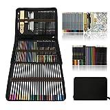 Professionnel Colore Crayons de Dessin Art Set - Malette dessin Inclus pastel, aquarelle, Charbon de...