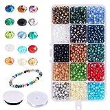 Candygirl 1500Pièces 6 mm Couleur Assortie Perles de Cristal Roche AB Perles DIY Kit Fabrication de Bijoux...