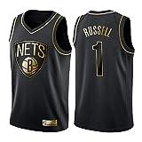 OLIS NBA Brooklyn Nets 1# Russell Maillot De Basketball,City Edition, Nouveau Tissu Brodé, Swag Sportswear